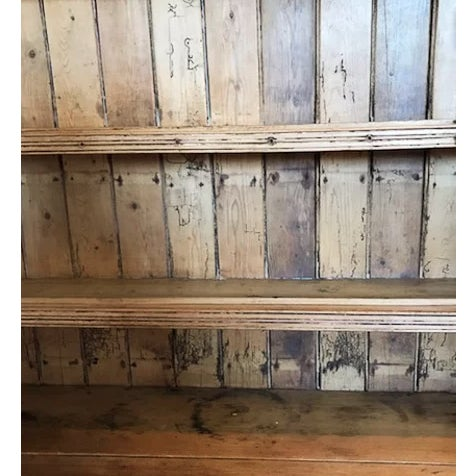 Rustic European Early 1800's Scandinavian Pine Hutch For Sale - Image 3 of 5