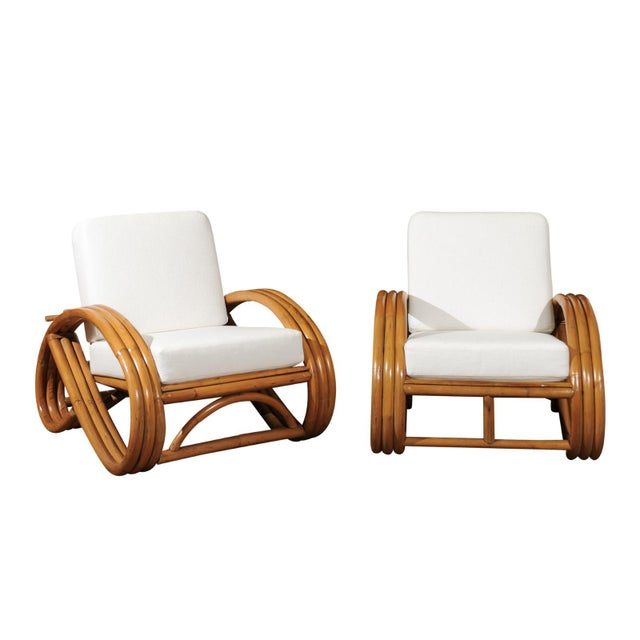 Pair of 1950s Restored Pretzel Loungers For Sale - Image 13 of 13