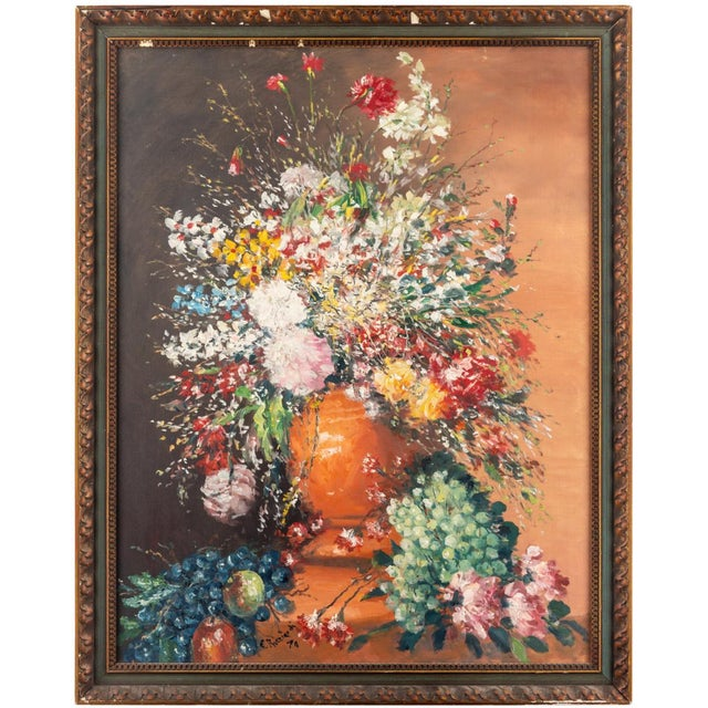 Cesare Riccardi American Still Life Painting, 1970 For Sale - Image 4 of 4