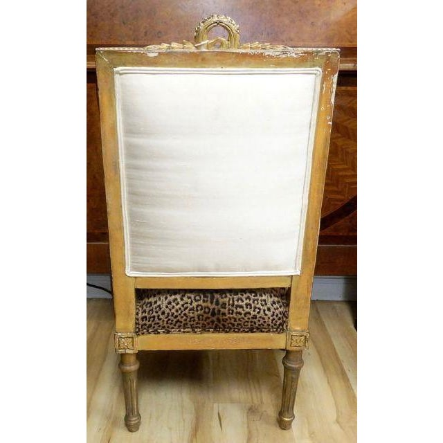 Antique French Slipper Chair - Image 3 of 5