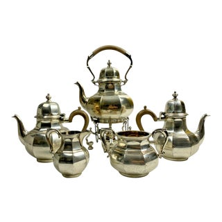 Garrad and Co Ltd Sterling Silver Coffee/Tea Service For Sale