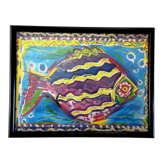 Tropical Fish Colorful Print by Conrad Bell For Sale