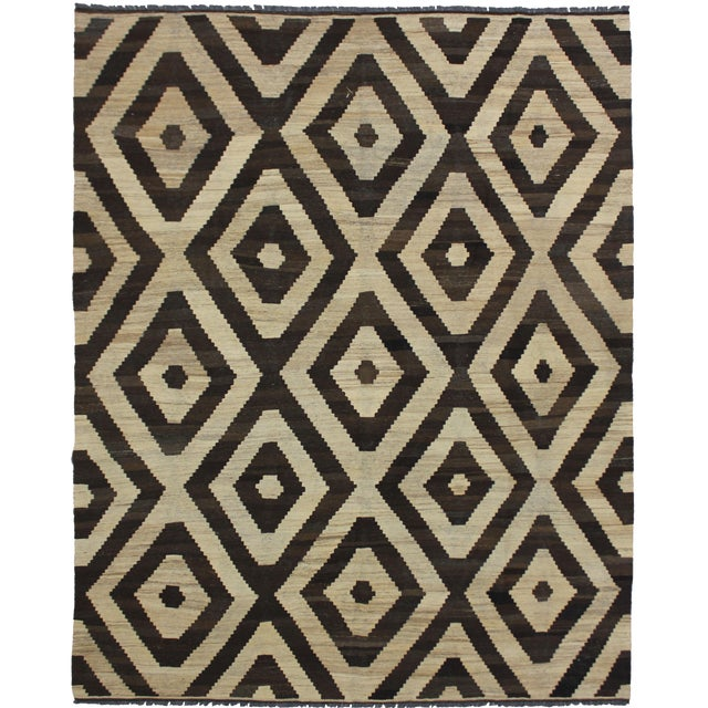 """Aara Rugs Inc. Hand Knotted Modern Kilim - 6'11"""" X 8'3"""" For Sale"""
