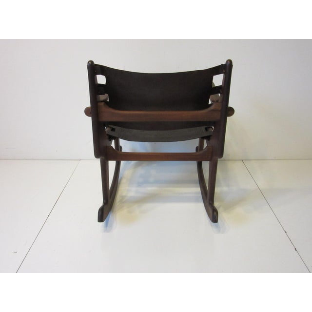 Mid-Century Modern Angel Pazmino Mid Century Sculptural Rosewood Rocking Chair For Sale - Image 3 of 12