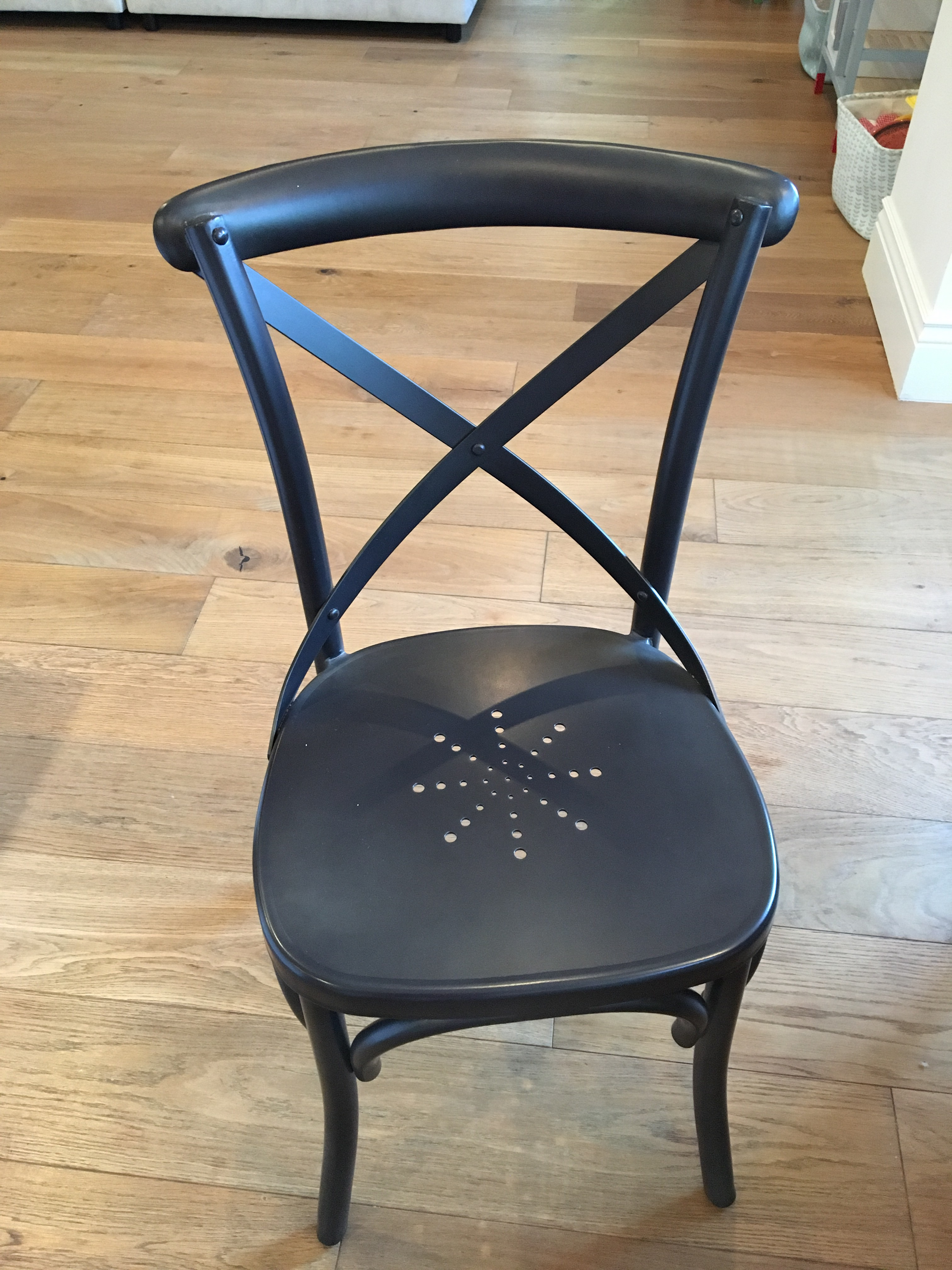 A Restoration Hardware Metal Madeleine Side Chair. Modeled After The Most  Popular Cafe Chair In
