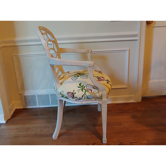 French Custom Wheel Back Chairs - a Pair For Sale - Image 3 of 8