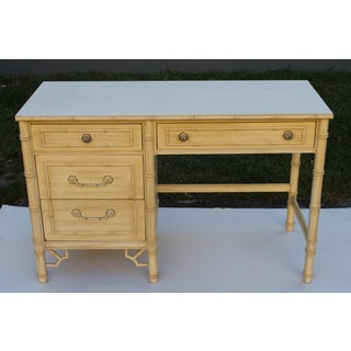 1960s Hollywood Regency Thomasville Faux Bamboo Writing Desk Preview