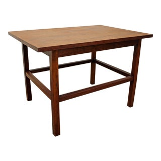 Mid-Century Danish Modern Milo Baughman Founders Walnut End/Side Table For Sale