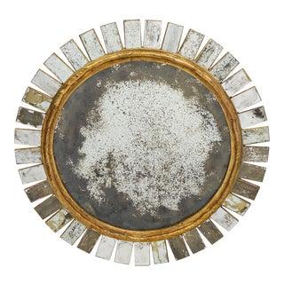 Spanish Vintage Sunburst Mirror For Sale