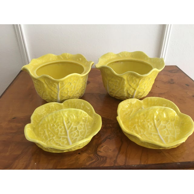 Vintage Secla Yellow Cabbage Bowls- Set of 3 For Sale - Image 9 of 12