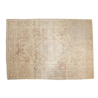 """Vintage Distressed Tabriz Carpet - 8' X 11'4"""" For Sale"""