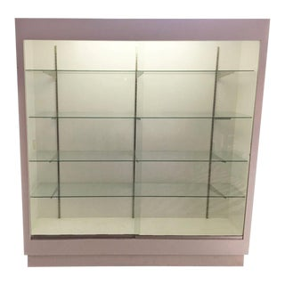 White Lacquer Vitrine For Sale