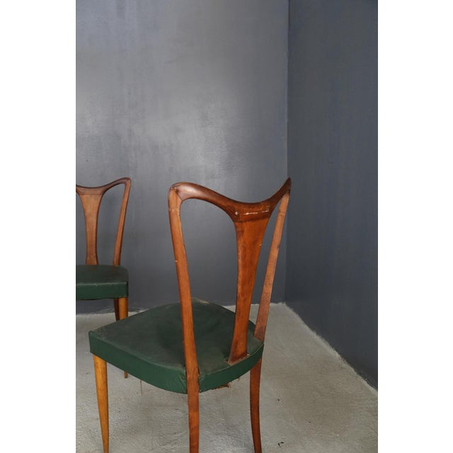 Mid-Century Modern 6 Chairs by Guglielmo Ulrich From 1940. For Sale - Image 3 of 5