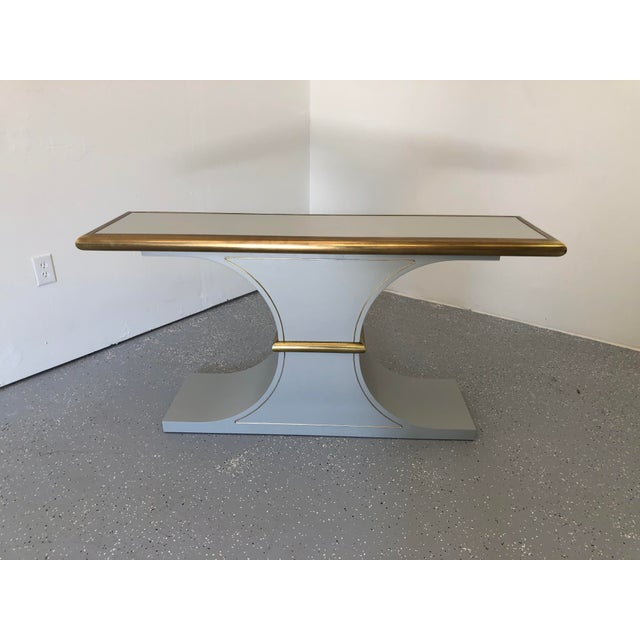 Hollywood Regency Mastercraft Console Table For Sale In Raleigh - Image 6 of 6