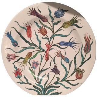 Handmade Turkish Tulip Plate For Sale