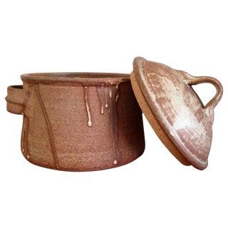 Drip Ceramics Brown Lidded Pot