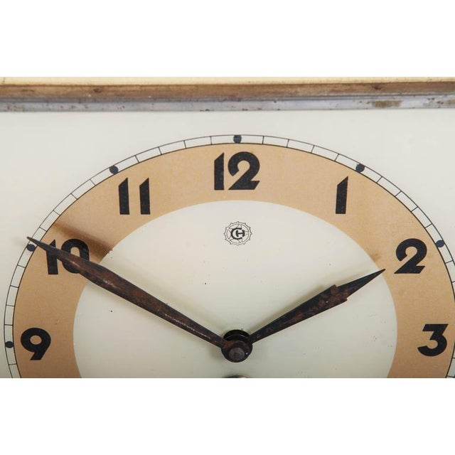 Art Deco Wall Clock by Chomutov, 1930s For Sale - Image 4 of 7
