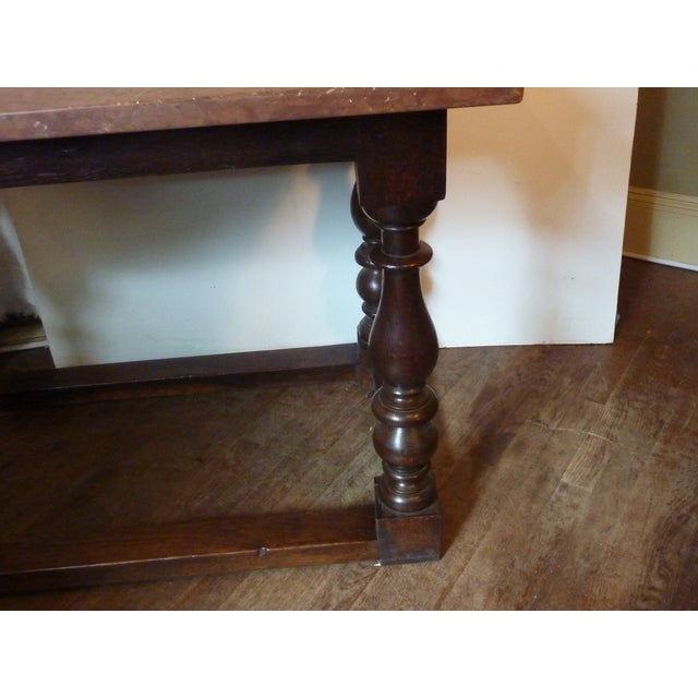 Mid 19th Century Baroque Style Oak Table For Sale - Image 5 of 6