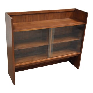 Mid Century Walnut Bookcase For Sale