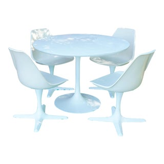 1960s Space Age Tulip Table and Chairs Set - 5 Pieces For Sale