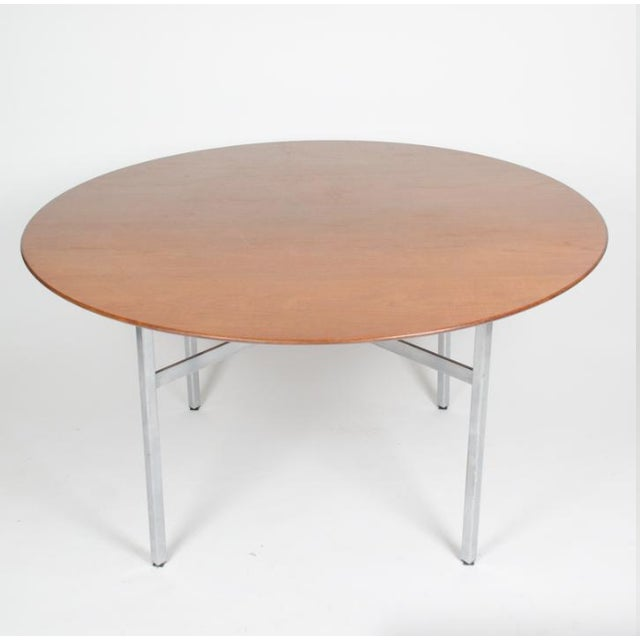Listed for sale is a rare Florence Knoll dining / conference table with rare X base in superb condition. The table is all...