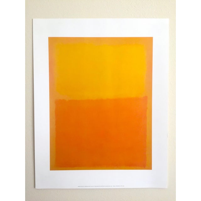 """Abstract Expressionism Mark Rothko Vintage 1990's Abstract Expressionist Lithograph Print Poster """" Orange and Yellow """" 1956 For Sale - Image 3 of 10"""