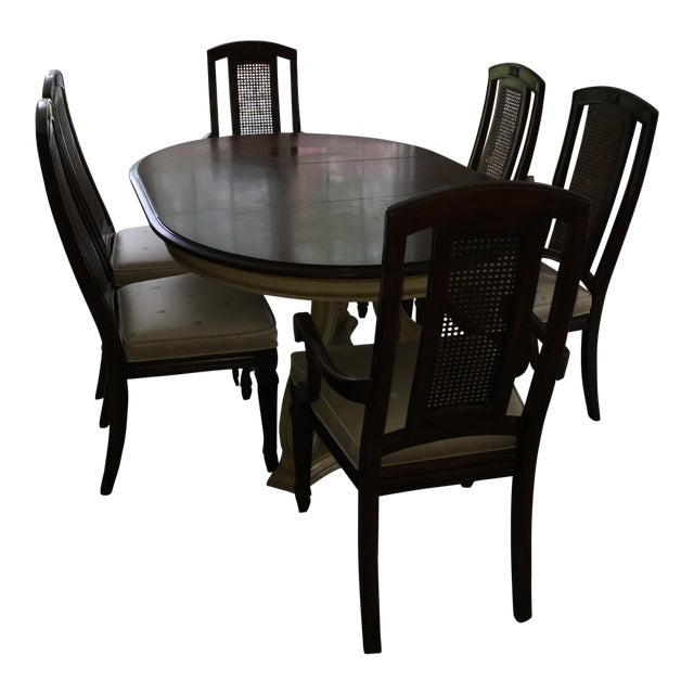 Blonde Mahogany Dining Set - Image 1 of 11