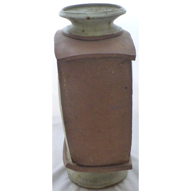 Earthtone Studio Pottery Vase by Vermont Artist Robert Deeble - Image 5 of 11