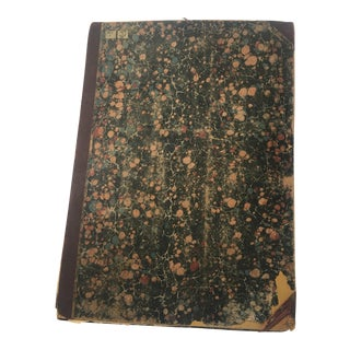 19th C. French Beaux Arts Tapestry Book For Sale