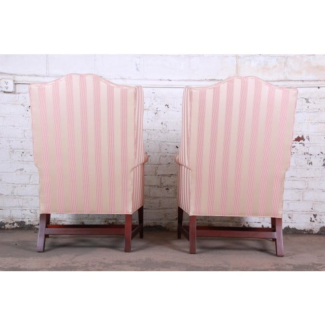 Baker Furniture Wingback Lounge Chairs, Pair For Sale - Image 11 of 13