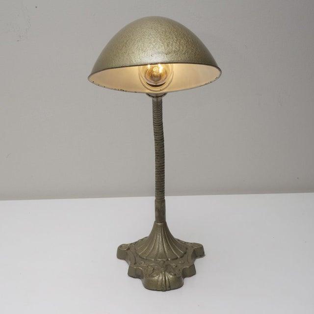 Industrial Vintage Gooseneck Lamp For Sale - Image 3 of 6