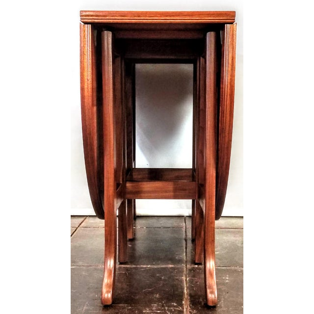 Wood Scandinavian Modern Style Nathan Teak Parker Knoll Drop-Leaf Gate-Leg Occasional Dining Table For Sale - Image 7 of 13