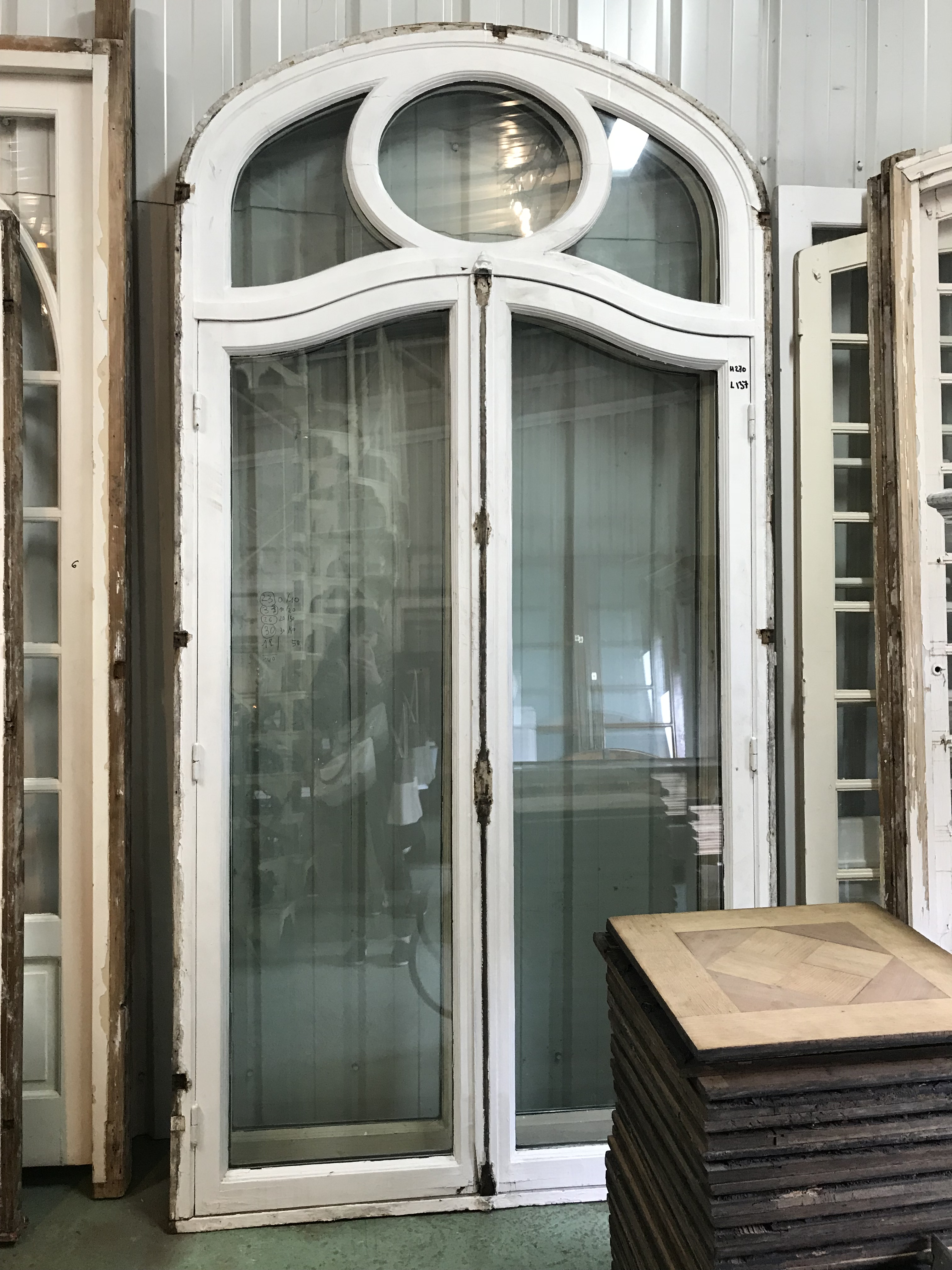 Antique french chateau doors a pair image 3 of 9