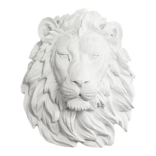 Wall Charmers Lion in White For Sale