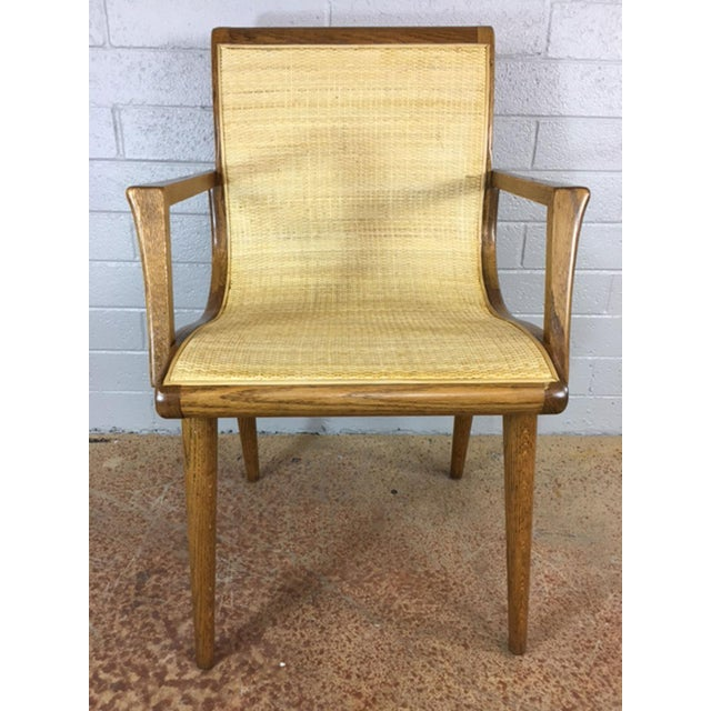 Oak Cane Sling Side Chair - Image 3 of 8