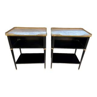 Pair of Hollywood Regency Nightstands or End Tables in the Manner of Jansen For Sale
