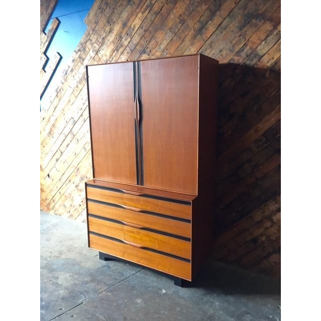 John Kapel Mid-Century Walnut Armoire - Image 3 of 8