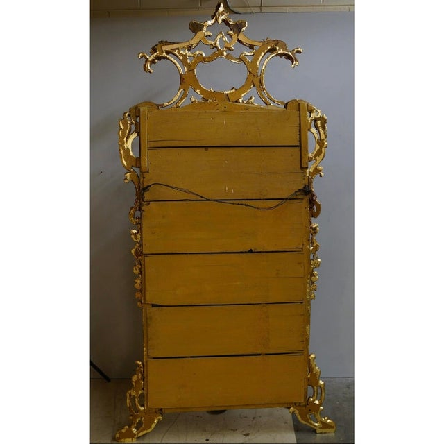 French 19th Century Louis XIV Style Gilt Wood and Gesso Mirror For Sale - Image 3 of 13