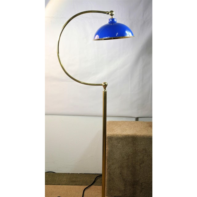 2010s Bungalow 5 Spencer Floor Lamp Royal Blue For Sale - Image 5 of 6