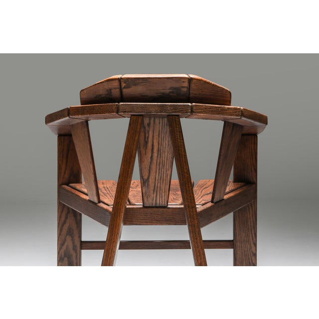 Walnut Craftsman Chair - 1960s For Sale - Image 12 of 13