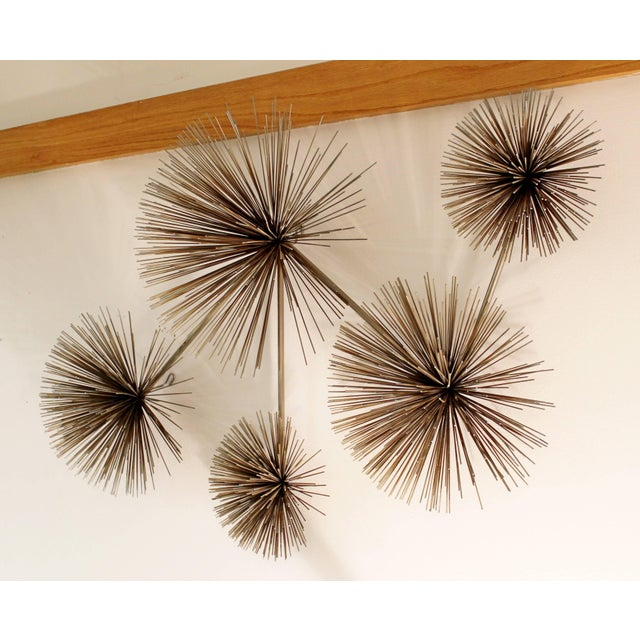 Mid-Century Modern 1970s Mid-Century Modern Curtis Jere Signed Brass Pom Wall Sculpture For Sale - Image 3 of 7
