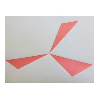 "Original Acrylic Painting ""Pink Pinwheel"""