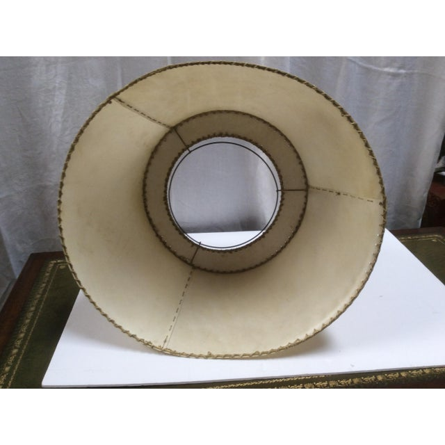 Vintage Vellum Hand Stitched Shade For Sale In San Antonio - Image 6 of 8