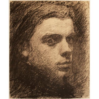 Rare 1959 Henri Fantin-Latour, Self-Portrait Hungarian Lithograph For Sale