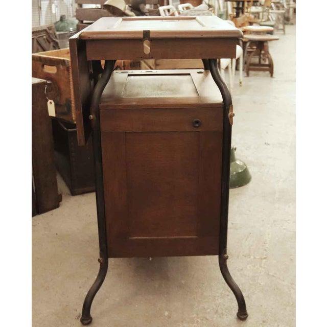 Brown 1920's Vintage Gestetner Duplicator Machine Wooden Cabinet For Sale - Image 8 of 9