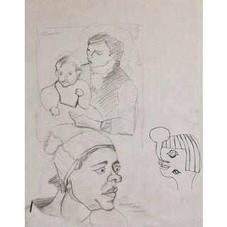"""""""Sketches After Picasso and Van Gogh"""" Drawing Study For Sale"""