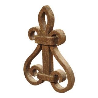 Antique Forged Iron Fleur De Lys, France 18th Century For Sale