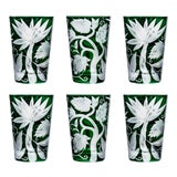 Image of ARTEL Jungle Deco Tumbler in British Racer Green - Set of 6 For Sale