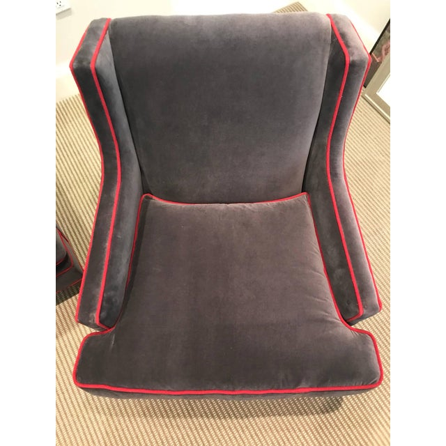 Mitchell Gold + Bob Williams Pair of Lounge Chairs For Sale - Image 4 of 6