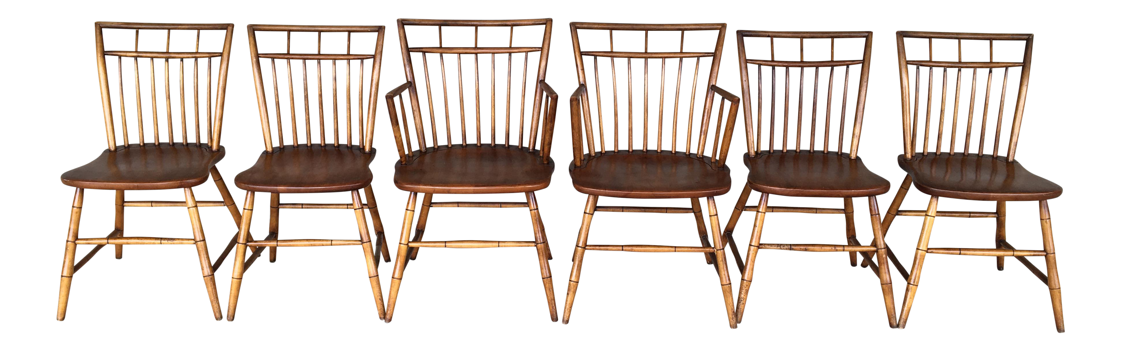 Curtis Colonial Reproductions Birdcage Dining Chairs   Set Of 6